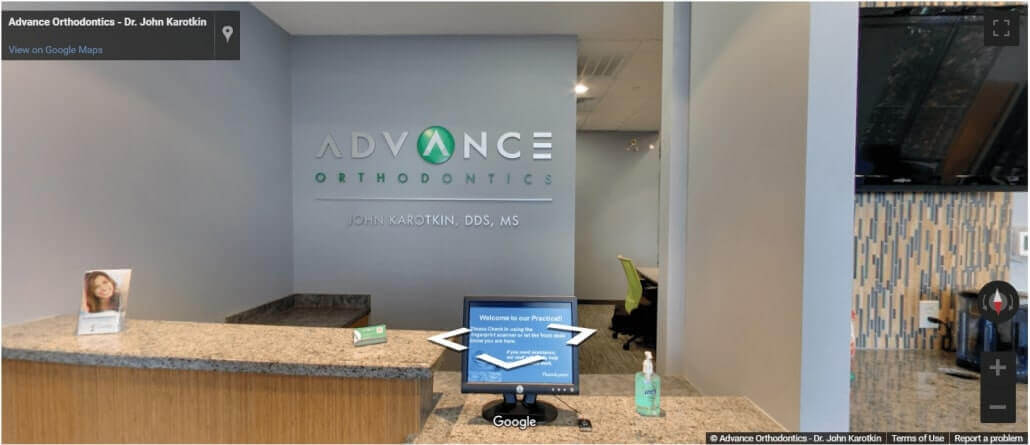 advance orthodontics houston office tour